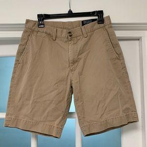 RALPH LAUREN polo khaki shorts mens 32 waist EUC